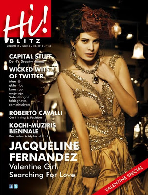 Jacqueline Fernandez Hot On Hi BLITZ Feb 2013 Magazine Coverpage ~ Cinemaawood