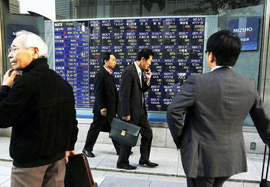 Asian shares ease on economy worries, China data eyed