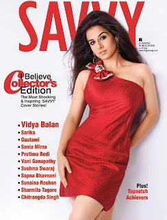Vidya Balan Hot On Savvy Magazine Mar 2013 Coverpage ~ Cinemaawood