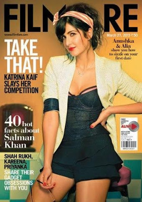 Katrina Kaif Hot On Filmfare Magazine Mar 2013 Coverpage ~ Cinemaawood