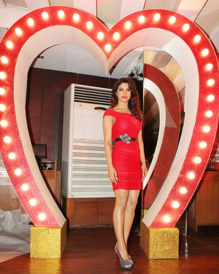 Priyanka Chopra At Launch Of Babli Badmaash Song , Priyanka Chopra, Priyanka Chopra Red, Priyanka Chopra at Babli Badmaash Song