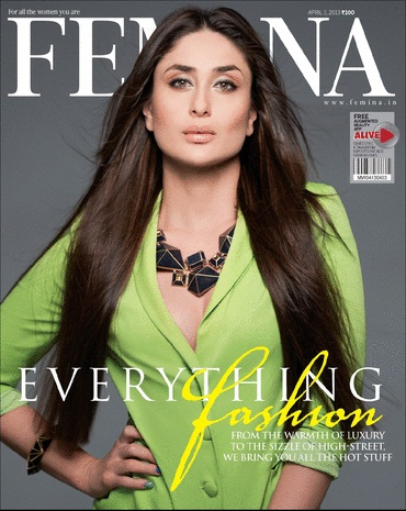 Kareena Kapoor Hot On Femina Magazine April 2013 Coverpage | CINERAK.CO.IN