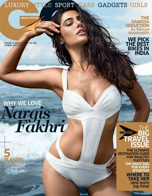Nargis Fakhri Hot On GQ India Magazine April 2013 Coverpage | CINERAK.CO.IN