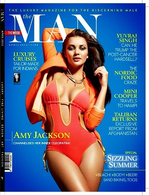 Amy Jackson Hot On The Man Magazine April 2013 Coverpage | CINERAK.CO.IN