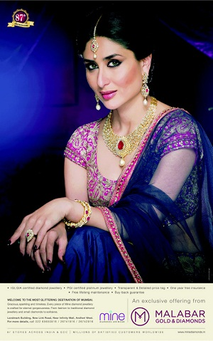 Kareena Kapoor Hot On Malabar Gold New Print Ad | CINERAK.CO.IN