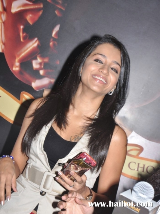 Tamil Actress Trisha Launches Magnum Ice Cream New Outlet At Express Avenue Mall, Chennai Photos