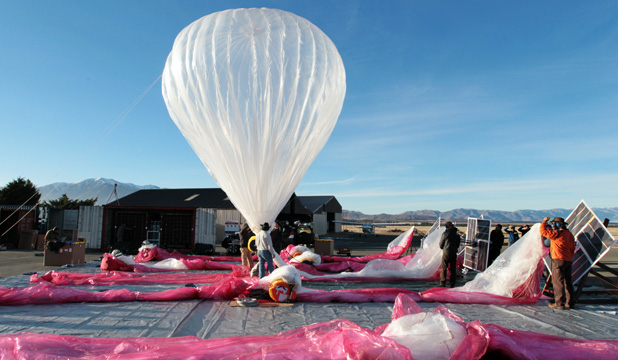 Google will float helium balloons over rural India for internet connectivity if an experiment testing the concept yields promising results.