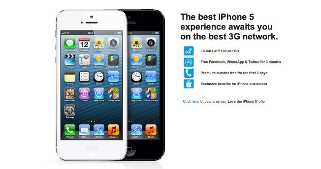 RCom's iPhone 5 3G data plans revealed