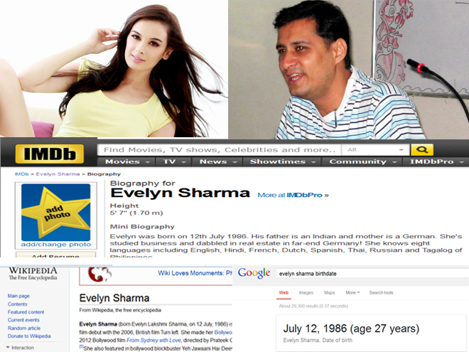 Bollygupshup Exclusive: Evelyn Sharma gets Dale Bhagwagar's support in publicizing her wrong birth date