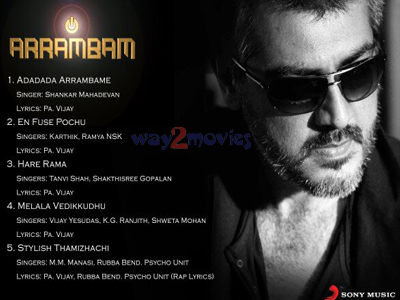 Arrambam tracklist is here...