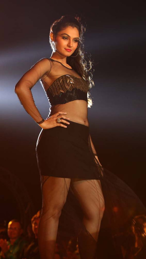Andrea Jeremiah Latest Hot Thigh Show Photos at Endrendrum