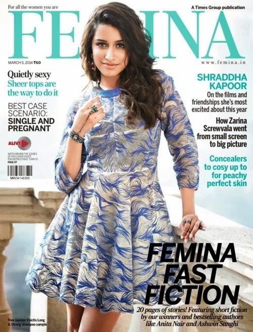 Shraddha Kapoor Stills From Femina India Magazine March 2014 |desifunblog