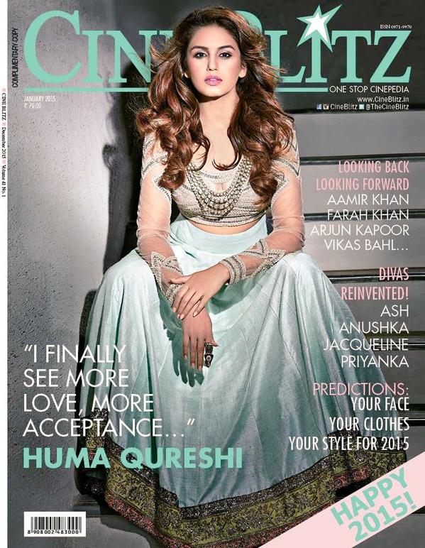 Huma Qureshi on CineBlitz Magazine Cover January 2015 | Lahoripoint.com