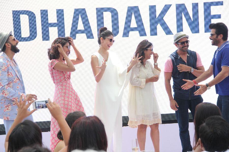 Anushka, Priyanka, Ranbir At Dil Dhadakne Do Movie Music Launch Photos