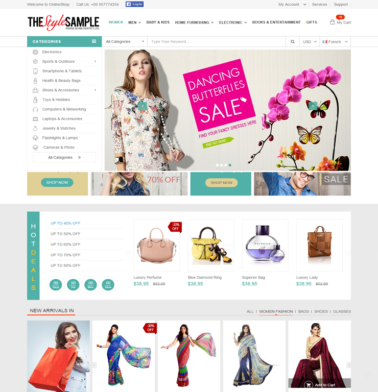 Online  Ecommerce Php Website Templates and Themes