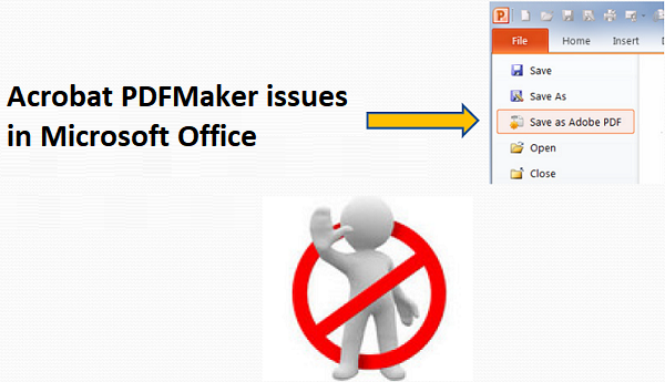 Fix Acrobat PDFMaker issues in Microsoft Office on Windows