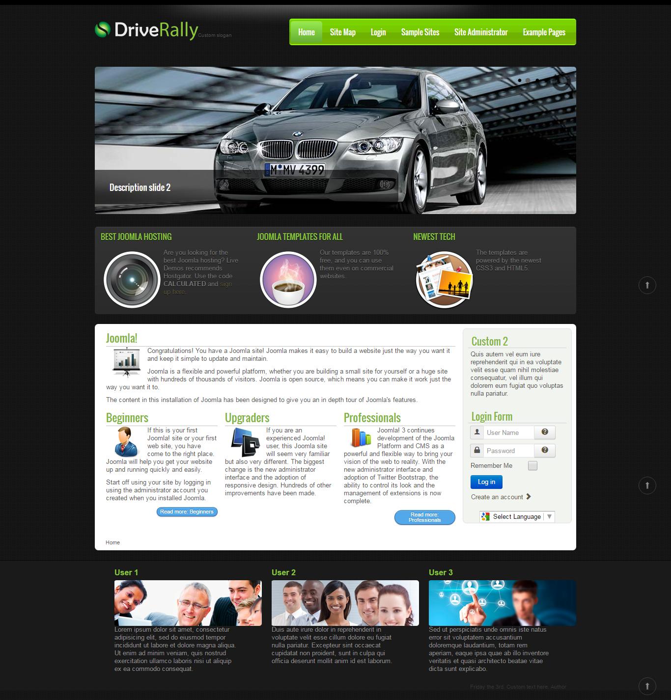 Free Download Responsive Joomla Website Templates