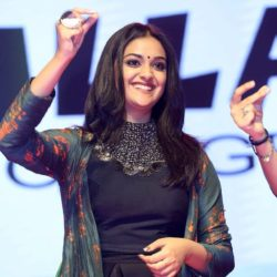 Keerthy Suresh Photos At Gang Pre Release Event - south celebrities