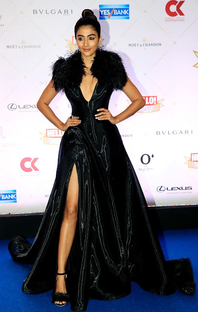 Pooja Hegde At Hello! Hall Of Fame Awards   Indian Girls Villa - Celebs Beauty, Fashion and Entertainment