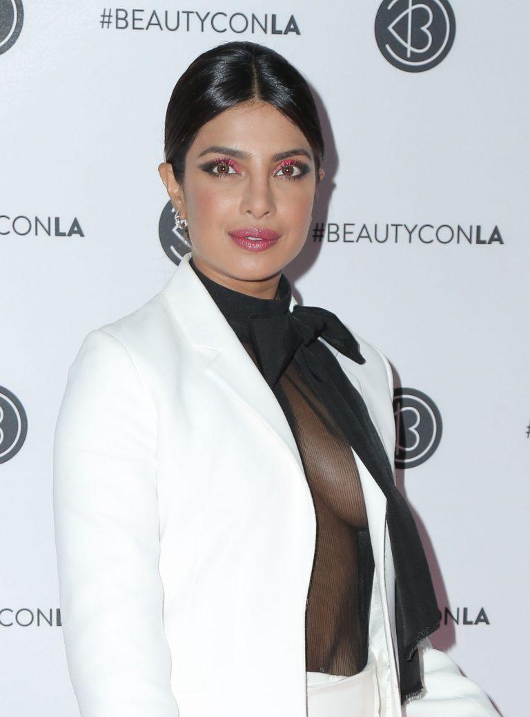 Priyanka Chopra stuns in white suit and sheer black top | All Indian Models