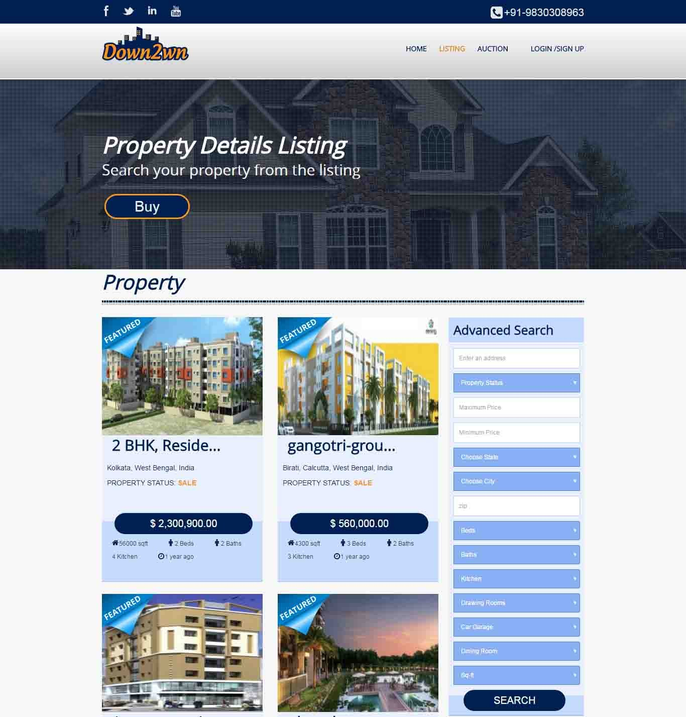 Free Real Estate Website Themes