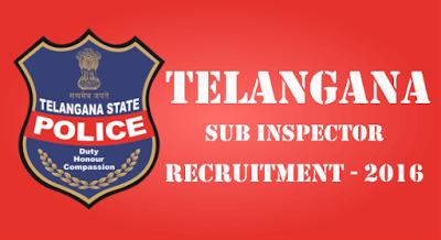 Telangana Sate SI Police Notification 2016 Online Apply  | Indain Talks