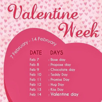 Valentine Day 2016 Week List Dates Schedule  | Indain Talks