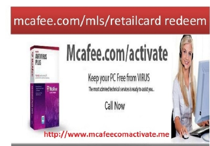 How to redeem mcafee mtp retail card ?