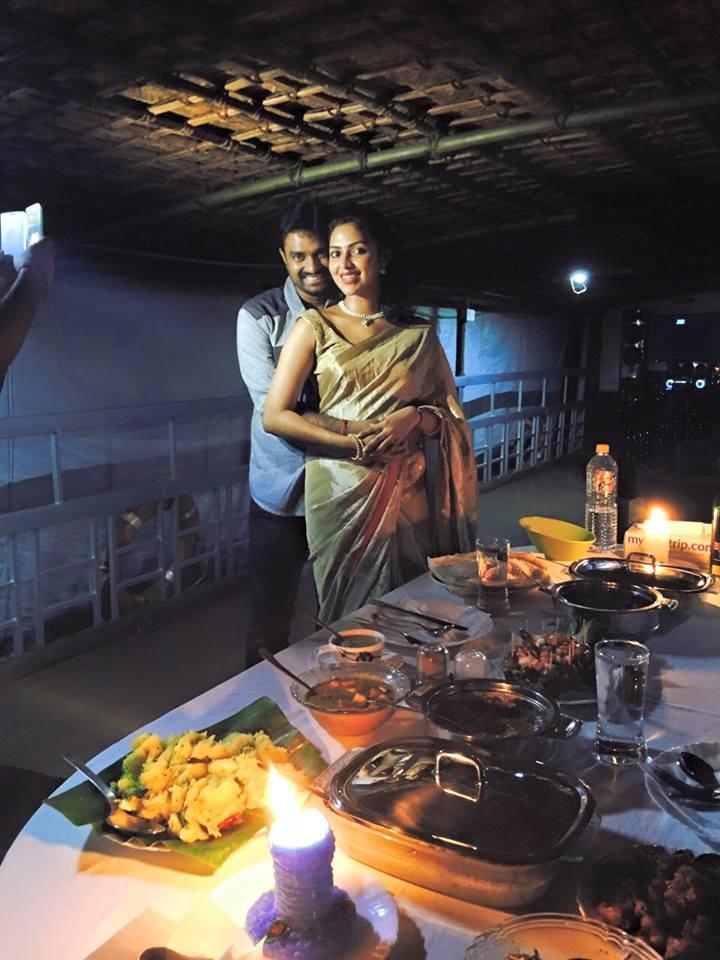 Amala Paul & Vijay Celebrated their 1st Year Wedding Pics