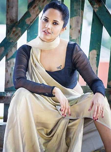 Anchor Anasuya Bharadwaj latest photos in transparent saree | | Indian Filmy Actress