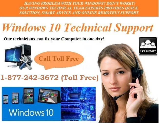 (877)-242-3672 Windows 10 support phone number