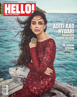 Aditi Rao Hydari on the cover of Hello! India | Indian Girls Villa - Celebs Beauty, Fashion and Entertainment