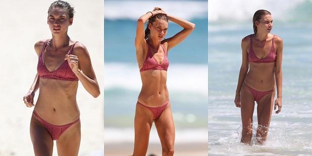 Avril Alexander hits the beach in a tiny bikini   World Cine Actress