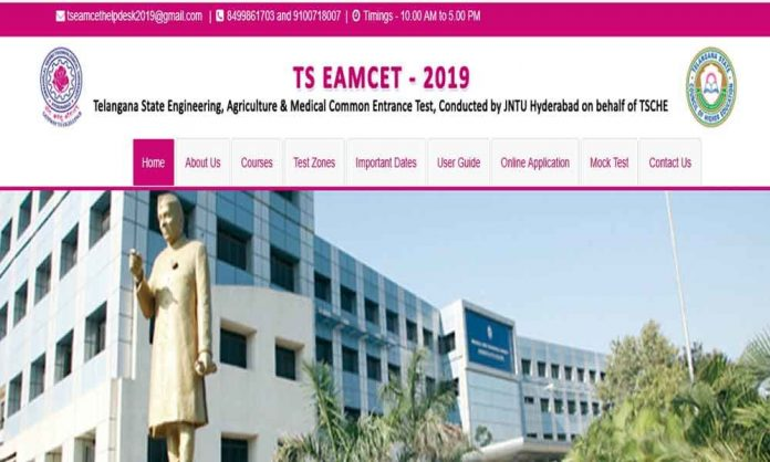 TS EAMCET Results 2019 Released @Eamcet.tsche.ac.in, manabadi.com