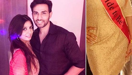 Neha Mishra Looked Elegant In Gold Dress On Her Bridal Shower   All Indian Models