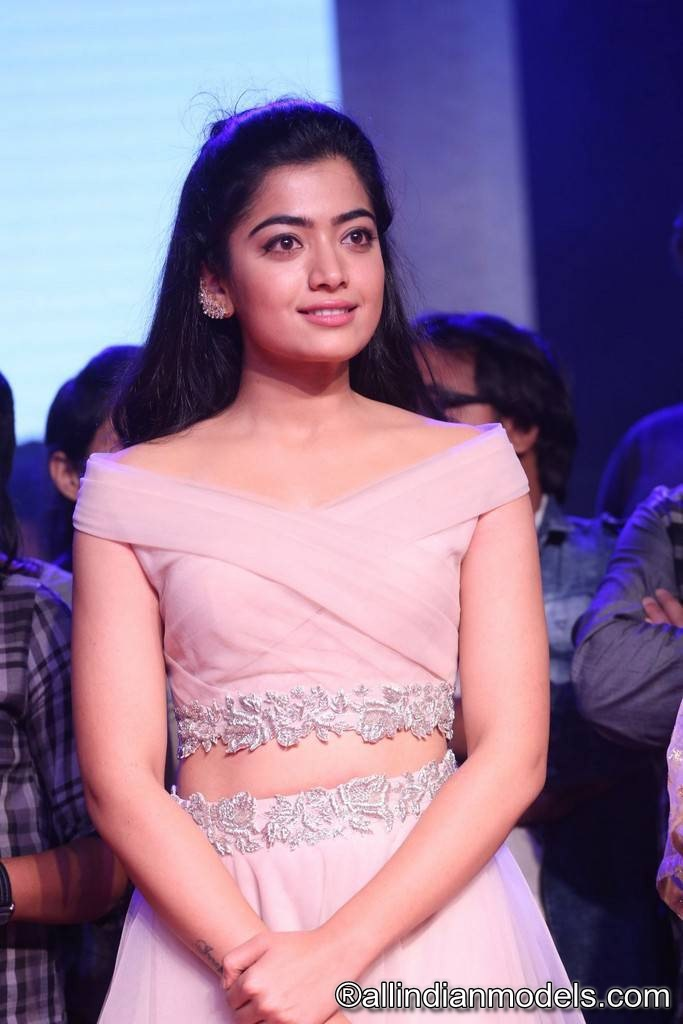 Rashmika Mandanna Stills At Chalo Movie Pre Release Event | | All Indian Models
